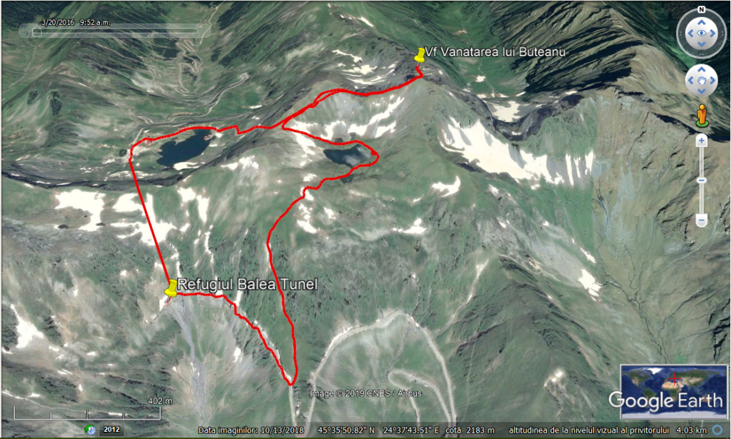 GE Balea Tunel Salvamont Cota 2000 Lacul Capra Vf Vanatarea lui Buteanu Lac Balea